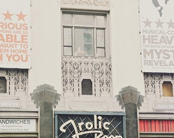 SALE Frolic Room photograph, Hollywood art print, Los Angeles photography, Bukowski, city, red white gray, California decor, bar, cocktails