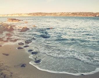 La Jolla photograph, beach photography, beach waves photo, cove, rocks, California seaside, San Diego, vacation, seascape, nautical decor