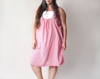 plus size vintage gingham tent dress, size 14-18