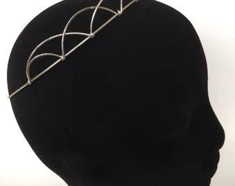 Silver Hammered Celtic Elizabethan Tudor Medieval Rennaisance Headdress Tiara Bridal Headpiece