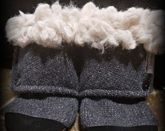 Soft sole wool Boots with fluff