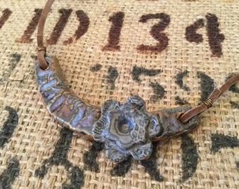 Rhapsody in Blue- Pottery Necklace