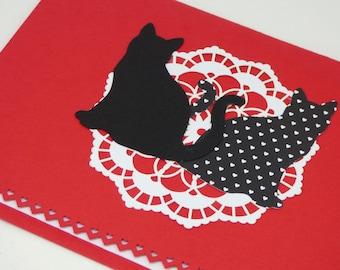 Cat Valentine's Day Card, Cute Animal Valentine's Day Card, Cute Valentine's Day Card, Romantic Valentine's Day Card, Cat Lover