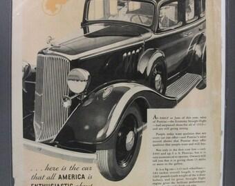 Pontica #105    Pontiac     Magazine Ad -  1933