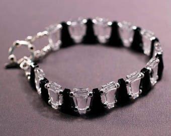 Crystal Keystone Double Strand Bracelet