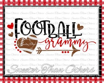 Football SVG Football Grammy Svg Distressed Football pattern Vinyl Design SVG DXF Silhouette Cameo  Cricut  Instant Download Football Design