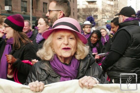 """""""Standard Bearer,"""" New York City Women's March, 2017."""