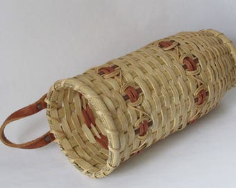 Handwoven Basket, Plastic Bag Keeper, Wall Basket
