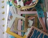 Paper Craft Inspiration Kit - Crate Paper - Studio Calico - Maggie Holmes - Trims Frames Stickers - AQUA STARS