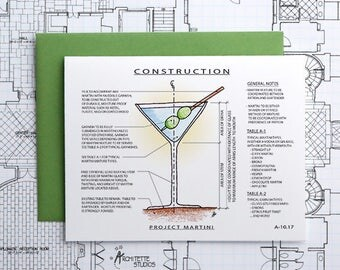 Project Martini - Instant Download Printable Art - Construction Series