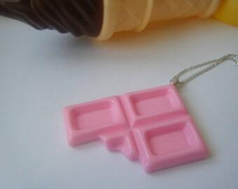 Pendant ♥ Pink Chocolate bitten ♥