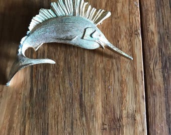 Swordfish brooch pin