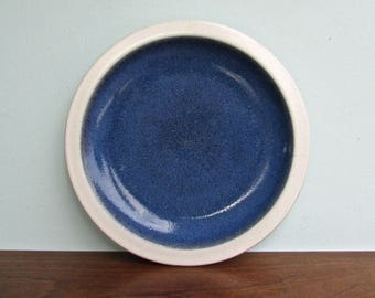 Edith Heath Pottery of California, Luncheon Plate Opal Blue, American Modern Design