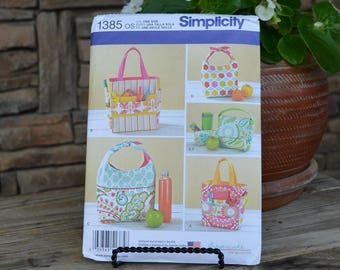 Simplicity Pattern #1385 Art Lunch Snack Bags