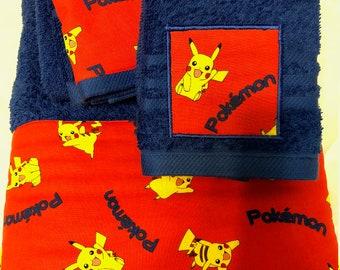 Pokemon Theme Towel Set