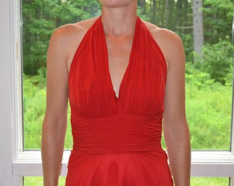 Vintage Donna Morgan Dress, Evening Wear, Lady in The Red Dress