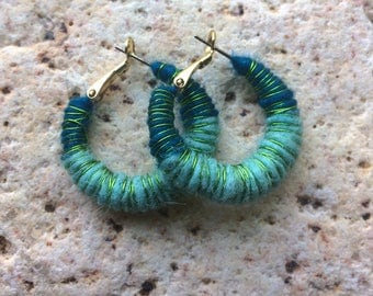 Needle Felted Wool Earrings