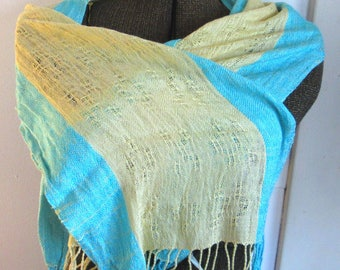 Silk Spring Handwoven Scarf