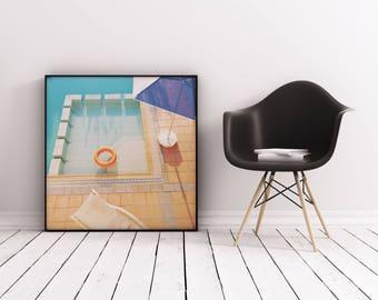Swimming Pool Art, Abstract Photographic Print, Geometric Wall Art - Swimming Pool
