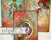 Gypsy Love, Printable, Decoupage Paper, Boho Chic, Ephemera, Junk Journal, Journaling Spots, Scrapbooking, Hang Tags, Ephemera Pack, Journal