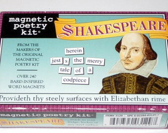 Magnetic Poetry Kit - Shakespeare  - Magnetic Words for Crafting or Learning