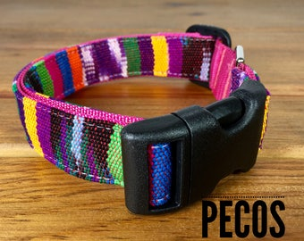 Colorful Dog Collar Pecos Dog Collar Mayan Mountain Dog Collar Woven Dog Collar