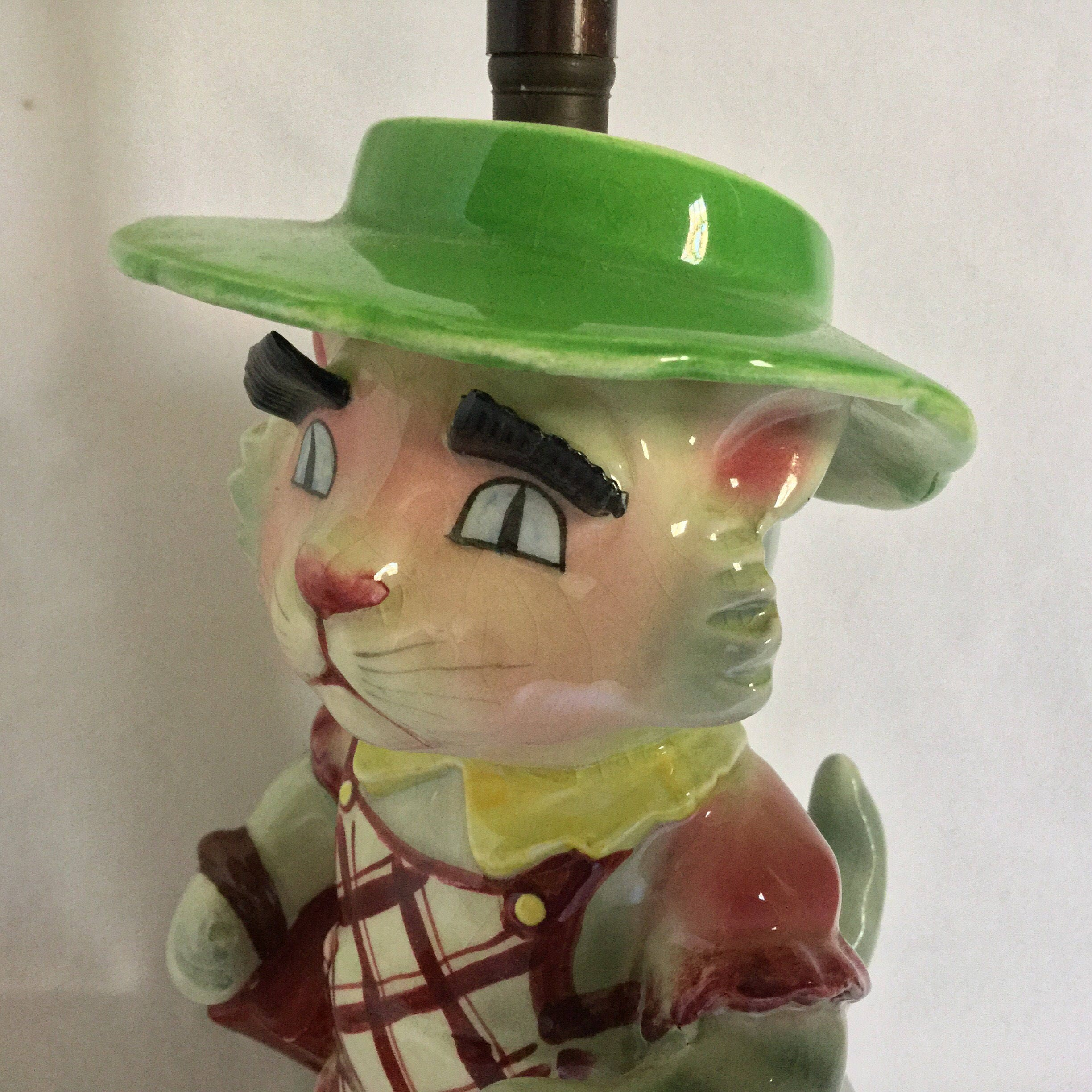 Adorable lamp rare vintage lady kitty cat beatrix potter sciox Image collections