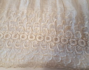 Antique Lacey Girls Dress Victorian Lace Salvage Reuse Repurpose