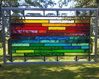 Colorful and Contemporary Stained Glass Panel