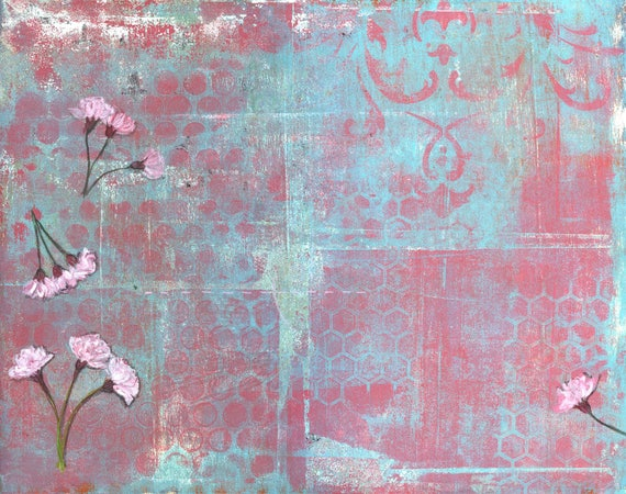 Willow bloom V- original mixed media on paper by Ingrid Blixt
