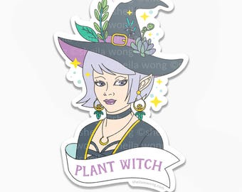 Plant Witch Large Glossy Sticker