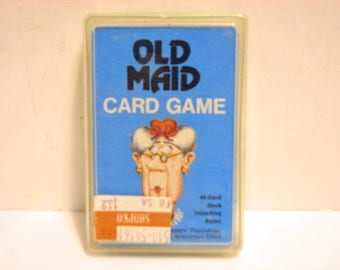 Vintage Old Maid Card Game in Original Box Western Publishing 1975