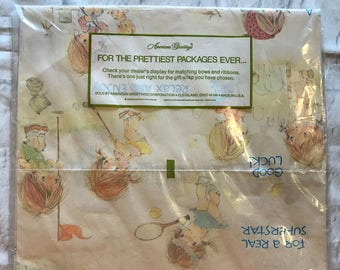 Vintage American Greetings All Occasion Gift Wrap GW 1651B