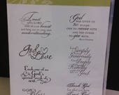 Stampin Up Trust God Rubber Stamps, Religious Sayings