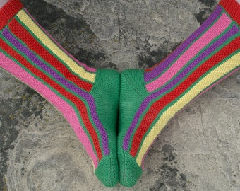 Tulip Field Socks Knitting Pattern - PDF