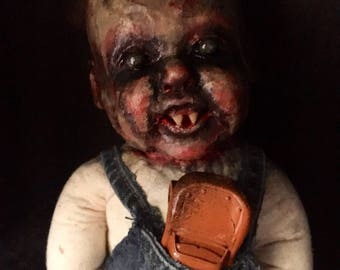 Ooak recycled Zombie boy Art Doll