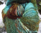 Handpainted handspun Yarn kit bundle, three skeins OOAK, bulky Merino, kid mohair,  Bamboo-Mrs. Fox