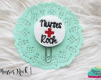 Nurse Planner Clip { Nurses Rock } medical student, Paper Clips, Stationary, Planner Supplies, nursing school gift  kikkik, happy planner
