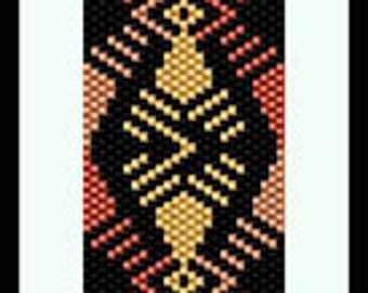 Bead Pattern - Shades of Copper Bracelet - Odd count peyote stitch