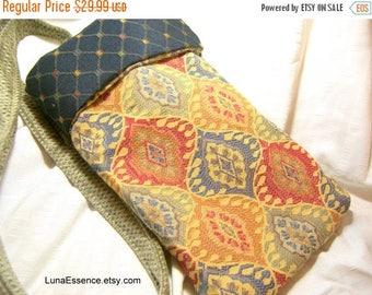 On Sale Cross Body Handbag Fabric Bag Small Tote Recycled Upholstery Handbag Hobo Bag