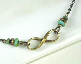Infinity Necklace - Boho Necklace, Minimalist Jewelry