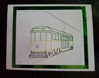 Streetcar Greeting Card