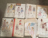 Vintage Sewing Patterns Lot of 8 Childrens Patterns 1940s 1950s