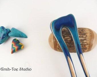 Spectraply Wood, Hair Fork, Mini Slim Mermaids Tail Grahtoe,Hairfork,GTS,Man Bun, Wood Hairfork, Wood Hair Toys, Hairforks, Hairstick,Pick
