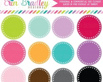 80% OFF SALE Digital Scrapbooking Clipart Clip Art Polka Dotted Circle Frames Personal and Commercial Use