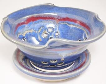 Berry Colander - Small Ceramic Strainer - Berry Basket Clay - Berry Bowl - Berry Basket - Pottery Berry Bowl - Ceramic Colander - In Stock