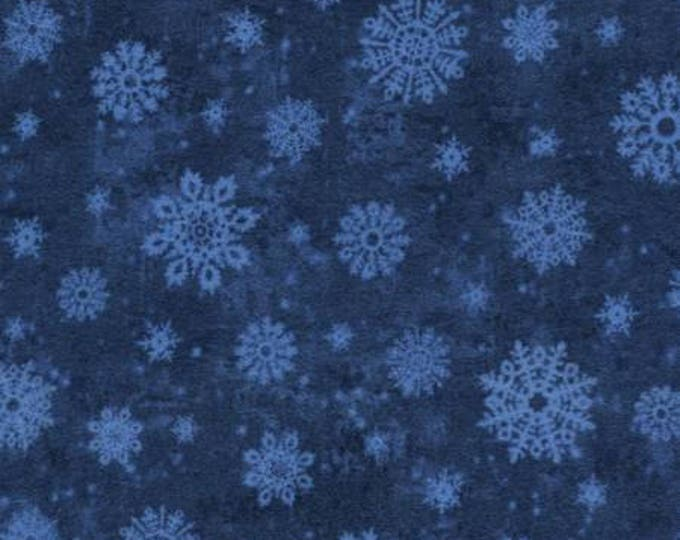 Christmas Holiday Blue/Multi Flannel Fabric, Winter Memories by Wing and a Prayer for Timeless Treasures