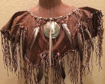 Native American leather collar