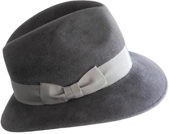 Gray Fedora Hat Women's Spring Fashion Spring Accessories Fall Fashion Women's Fedora Hat Fall Hat Gray Hat Winter Accessories Men's Hat