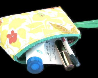 Wristlet in Vintage Upcycled Oriental Fabric by JoJo Couture OOAK